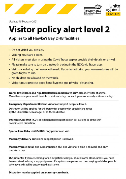 Level 2 Visitor policy Feb 2021 IMG